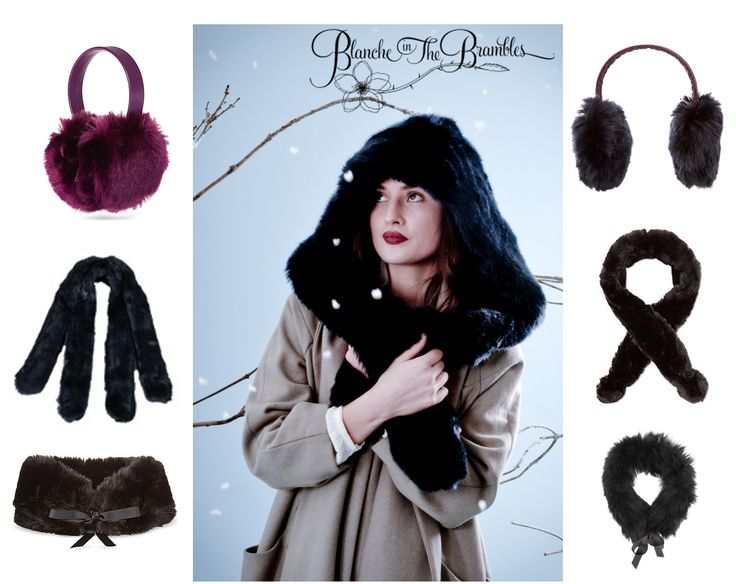 Goth meets faux fur