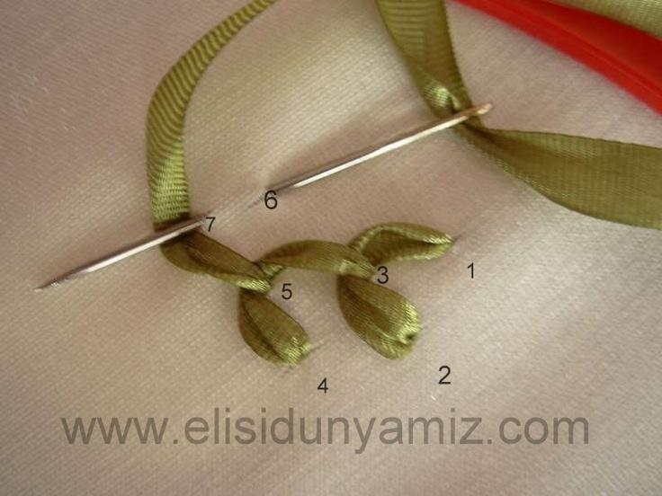 Silk Ribbon Embroidery tuts. http://elisidunyamiz.com/en/ Kurdele Nakışı Y İğne Tekniği 2