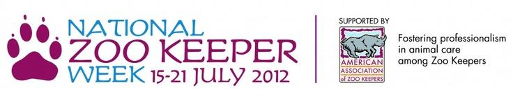 Happy Zoo Keeper Week!!!!  Yay!!!!