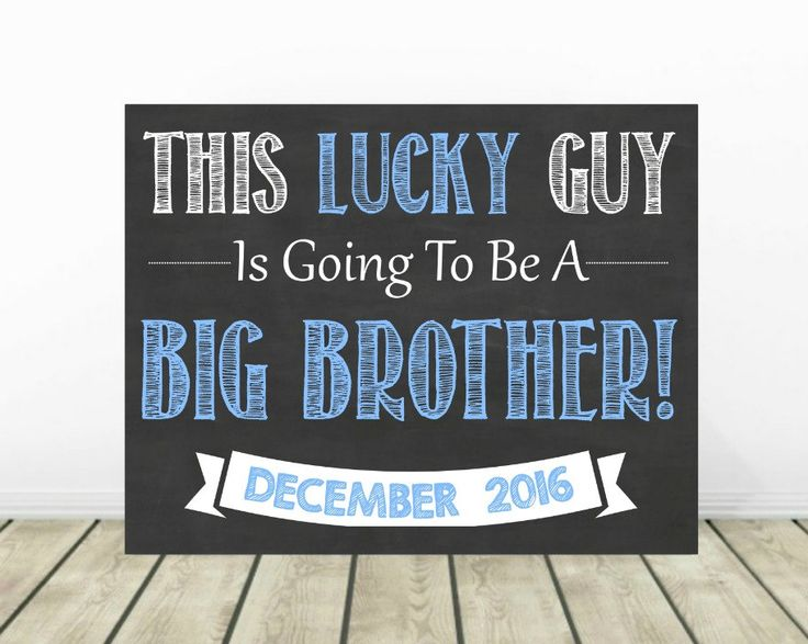 Big Brother Announcement, Sibling Announcement, 2nd Pregnancy Announcement, Baby Number 2, Big Brother Sign, Second Baby, Pregnancy Reveal by PrintsInspiredByMyah on Etsy