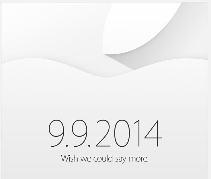 Apple officially holding event September 9th: 'wish we could say more'