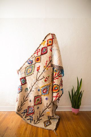 Dying over the pattern of this vintage, one-of-a-kind Berber rug from #cococarpets