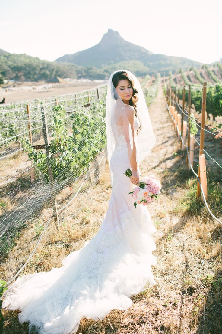 Wedding Gown by Inbal Dror  | See the wedding on #SMP Weddings: http://www.stylemepretty.com/2013/12/09/saddlerock-ranch-wedding Photography: Vis Photography