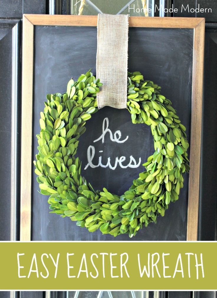 boxwood wreath for easter                                                                                                                                                                                 More
