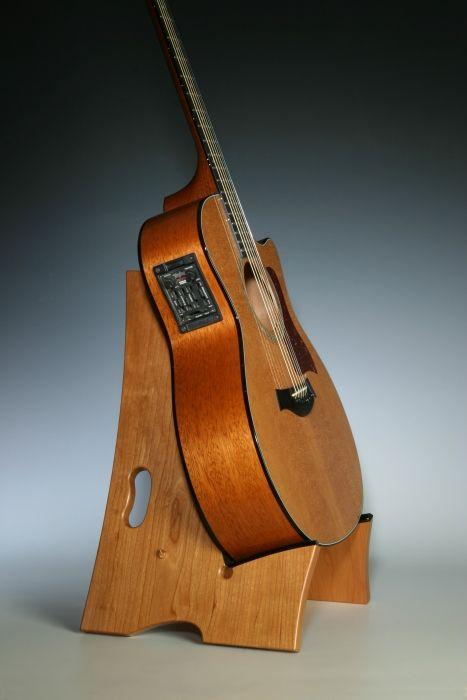 Wood guitar stand inspiratie ontwerpstudio pinterest