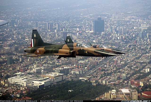 Mexican Air Force                                              401 Squadron, Flight Over Distrito Federal