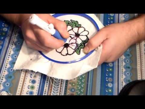 Curso online Mi primer bordado mágico - Tutorial de como hacer aguja mágica - Aprende a bordar - YouTube