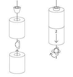 comment insérer les rouleaux de papier toilette sur le rangement / stockeur de PQ