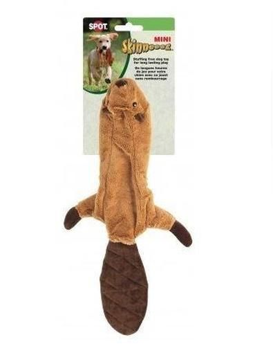 Ethical Pets Mini Skinneeez Beaver Stuffingless Dog Toy 14
