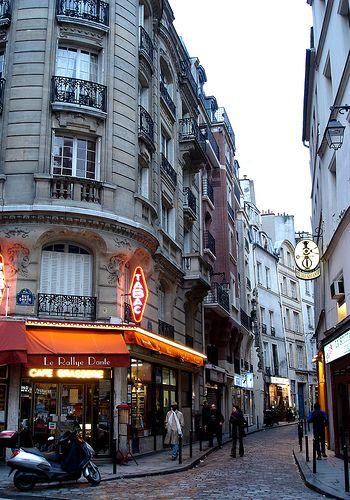 Dante à Paris - Rue Galande, au coin de la rue Dante, Paris 5e