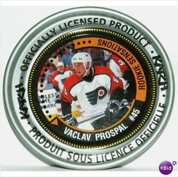 "Katch NHL Medallion #165 Vaclav Prospal #45 Rookie Sensation 2-3/8"" Diameter on eBid Canada"