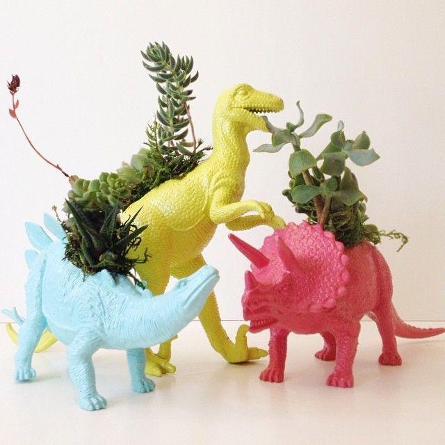 #flowerpot #plantpot #pot #plant #dinosaur #nature #funny #crownflorastudio