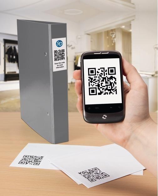Kod QR wydrukowany na etykiecie kryjącej pomoże zachować porządek w segregatorach na dokumenty. http://www.avery-zweckform.pl/products/labels/cover-and-correct/