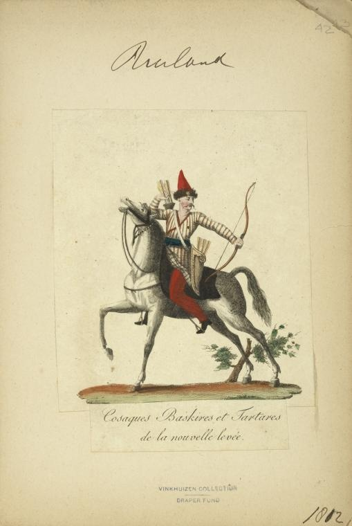 'Cossacks, Bashkirs and Tartars of the new levee' Bashkir (NYPL > The Vinkhuijzen collection of military uniforms > Russia. > Russia, 1807-1812)