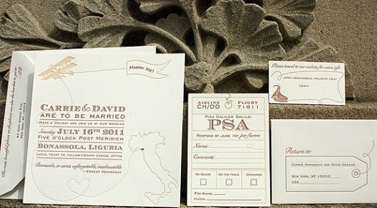 love love love. Vintage-Inspired Invitations for a Destination Wedding in Italy. Designed by Melinda at Lion in the Sun