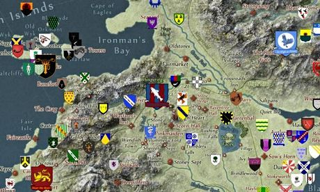 Game of Thrones fans create an interactive map of Westeros... via Google Maps
