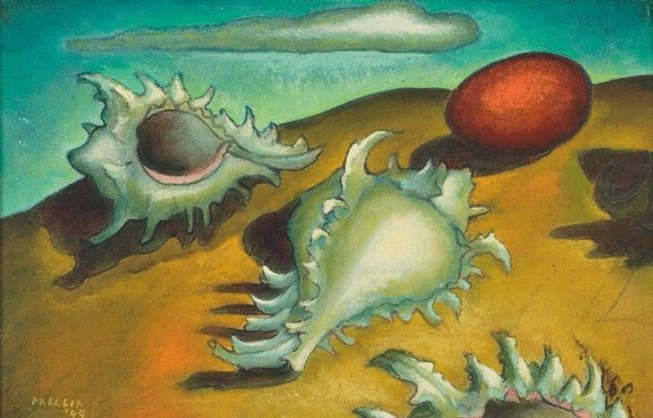 Alexis Preller (1911-1975) - Shells with Red Egg