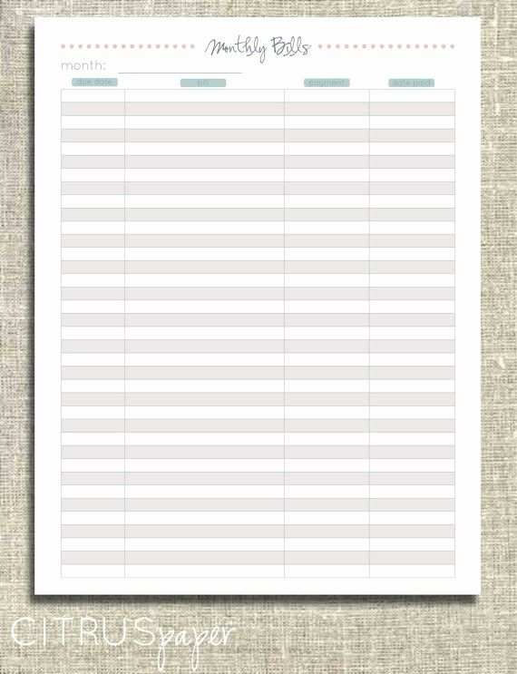 Monthly Bill Payment Log Elegant 6 Best Of Free Printable Payment Log Sheet Template In 2020 Paying Bills Bill Payment Organization Monthly Bill