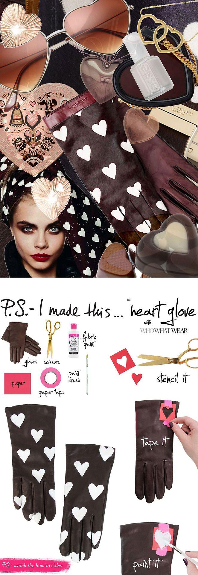 DIY heart gloves