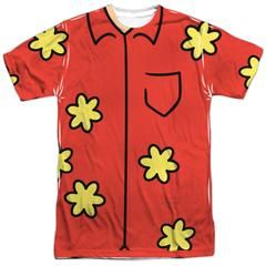 Submerge yourself in the world of Family Guy with this Quagmire Costume Sublimated T-Shirt. Now you can live out your fantasy and wear this officially licensed, sublimated t-shirt made of 100% polyester. Show the world how much you love Family Guy and get it today.  Be sure to keep in mind production and shipping times when ordering your Halloween costume!