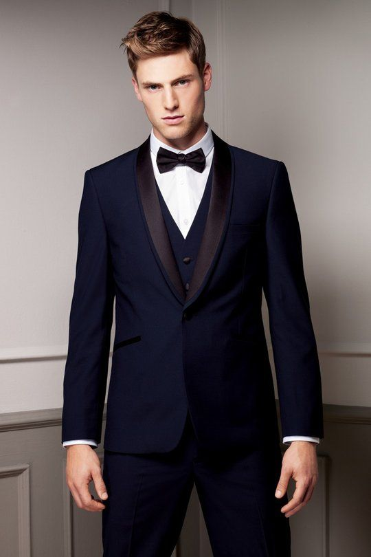 Navy blue #tux #tuxedo #menswear