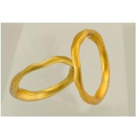Βέρες Κ18 από κίτρινο χρυσό.#marizaart #greekart #art #greece #wedding