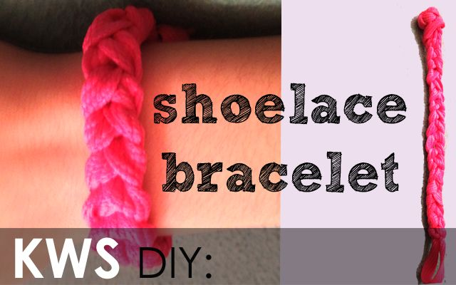 K-world Style: Quick DIY: Shoelace Bracelet