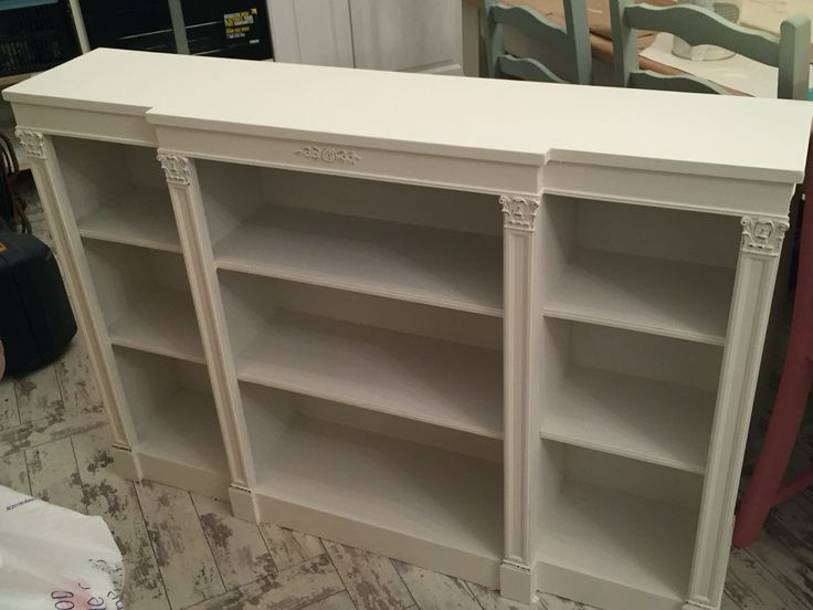 Okd shelf unit recycled, reloved! New Tv unit paited in Everlong Porcelain