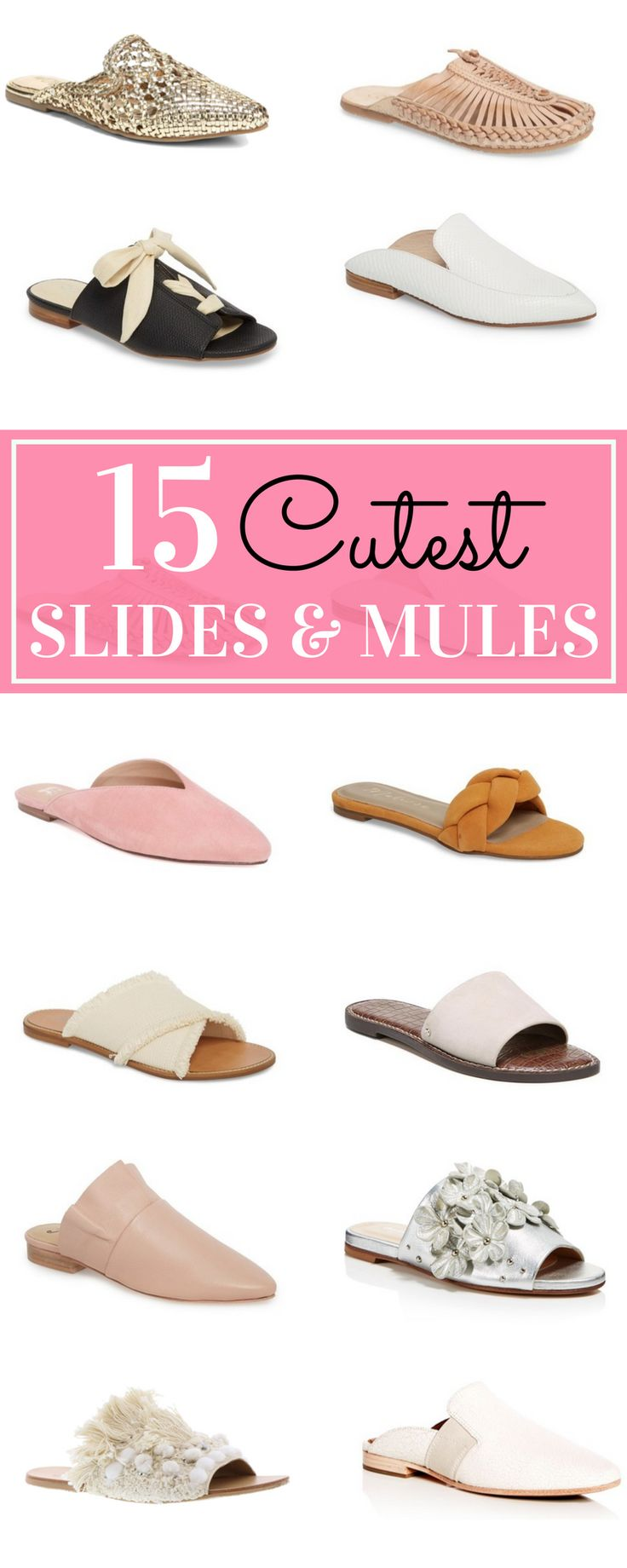 I am having a major love affair with slides. These are the shoes I get the MOST questions about, so I know I'm not the only one digging the comfy trend. Free People Cleo Ruffle Flat. | glitterinc.com | @glitterinc - 15 Slides and Mules That Will Have You Falling in Love With the Trend by popular North Carolina style blogger Glitter, Inc.