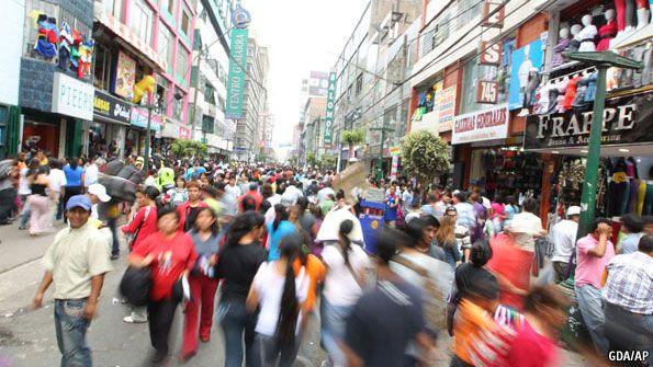 Gamarra shopping district, Lima, Peru