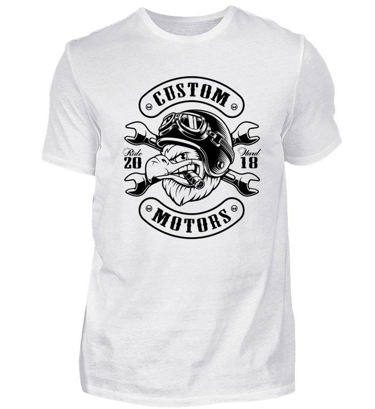 ☛ EAGLE BIKER · CUSTOM MOTORS #1.5 T-Shirt
