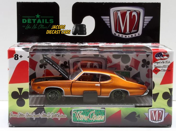 1:64  M2 MACHINES WILD CARDS WC05 - 1969 PONTIAC GTO JUDGE #M2Machines #Pontiac