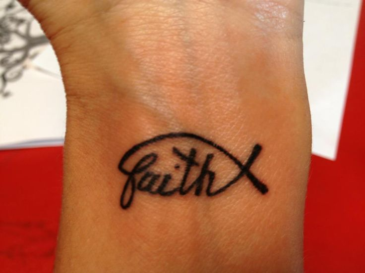 faith wrist tattoos