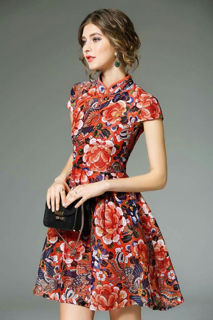 Chinese cheongsam dress pictures