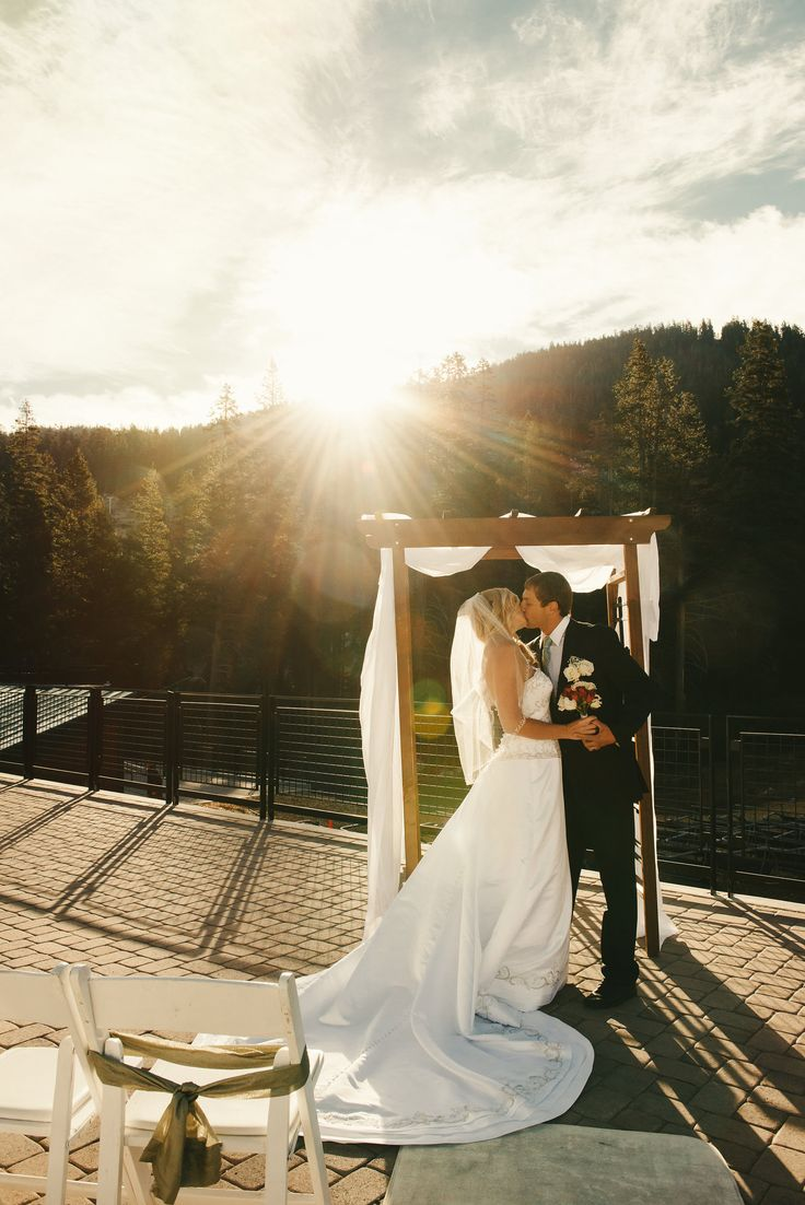 wedding receptions sacramento ca%0A Mountainside wedding ceremony at a Lake Tahoe ski resort    SierraatTahoe