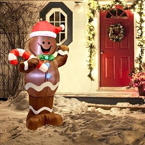 Christmas Gingerbread Man Airblown Inflatable 5 Ft Yard LED Lighted Xmas Decor #easy_shopping08