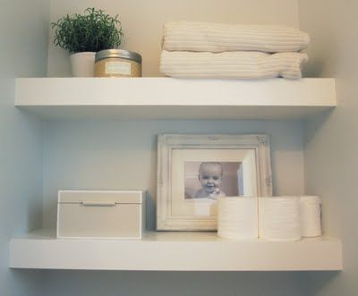 floating shelves - need something like this for master bath