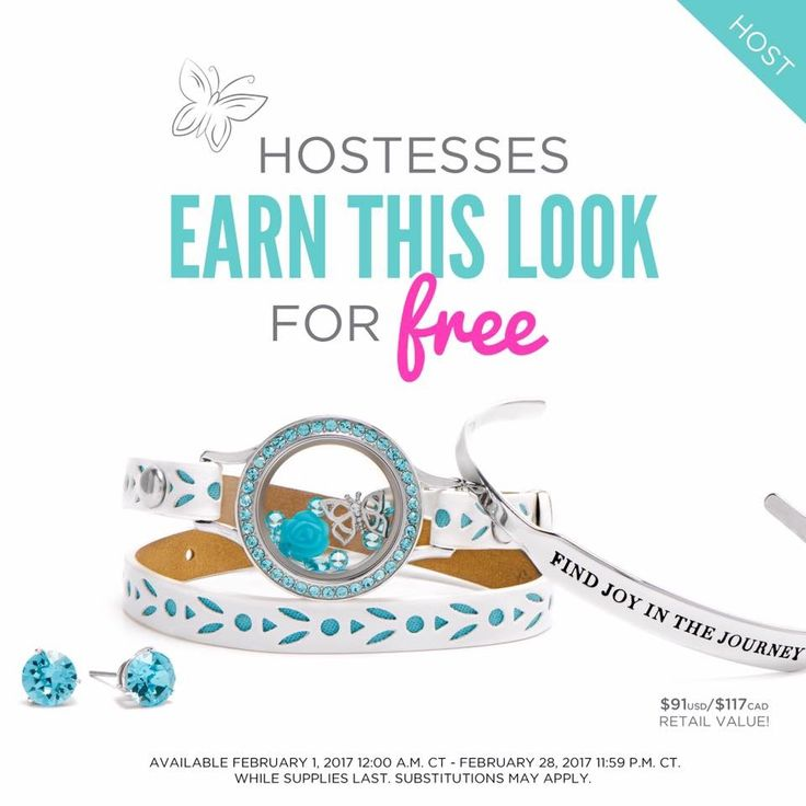Host a February Origami Owl Jewelry Bar or Facebook party to Earn this exclusive wrap bracelet set!