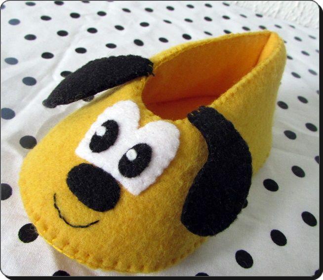 sapatinho de bebe Pluto