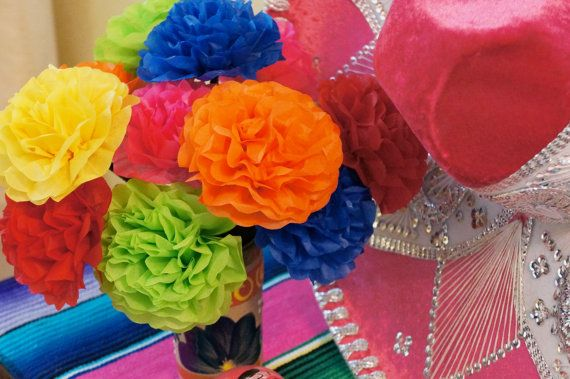 50 best princess approved handmade flowers images on pinterest fiesta tissue paper flowers 12 count mightylinksfo