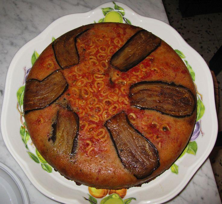 Pasta al forno, alla siciliana, con melanzane