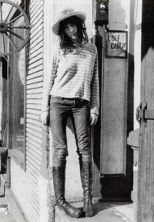 Patti Smith, an American punk rock singer/songwriter and poet who influenced the punk rock movement.