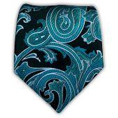 Quantum Paisley - Black/Green Teal || Ties - Wear Your Good Tie. Every Day - Quantum Paisley - Black/Green Teal Ties