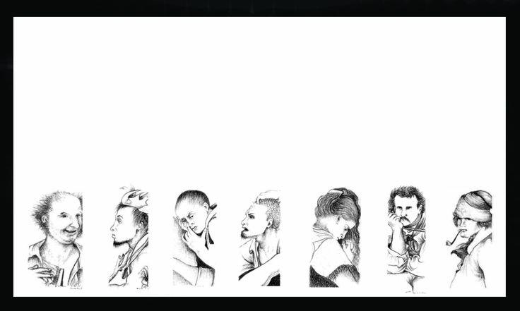 De la serie Rostros. Grafito sobre papel