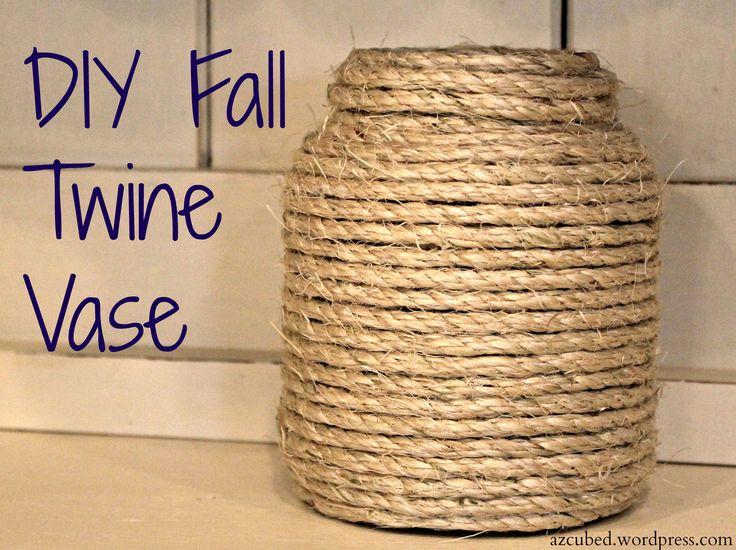 DIY Fall Twin Vase
