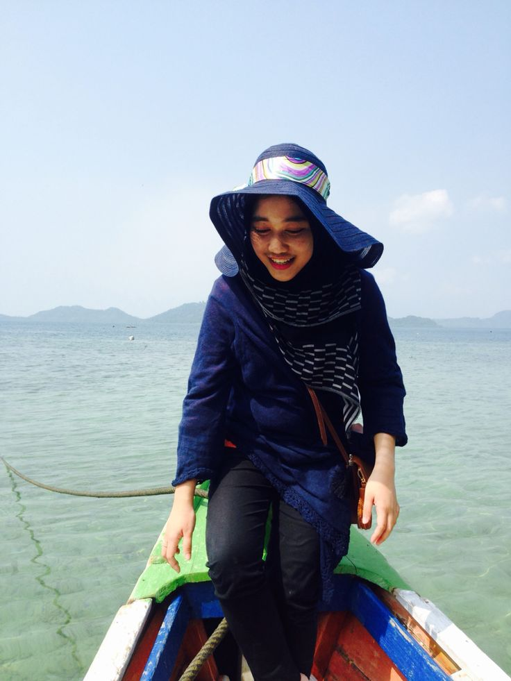 On boat of me
