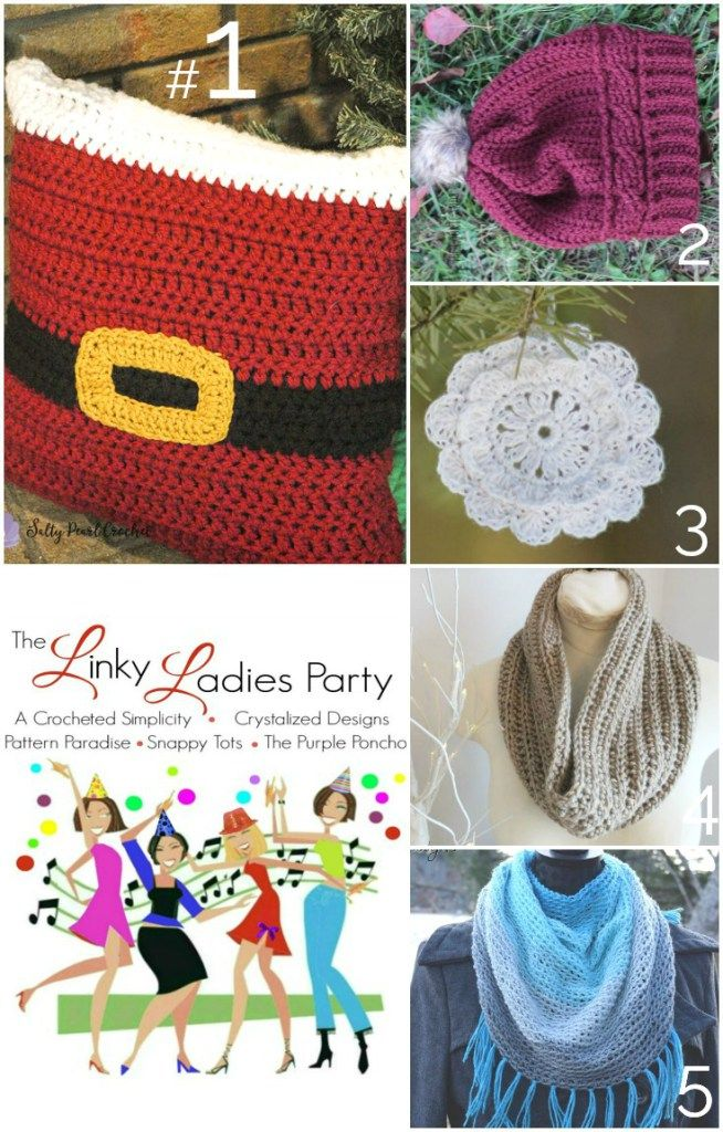 The Linky Ladies Party # 121 The Purple Poncho #crochet #pattern #thelinkyladies