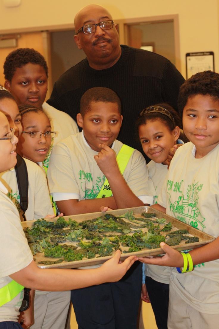 DPS kale harvest for kale chips