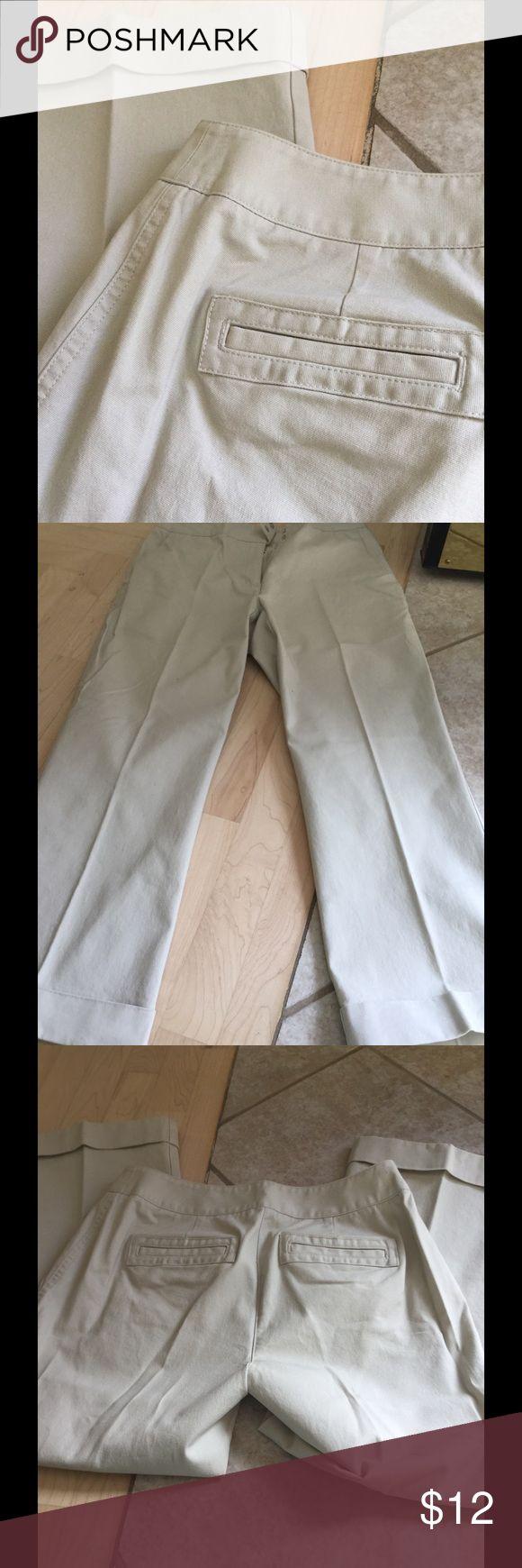 Sigrid Olsen kaki capri w cuffed bottoms Great condition capris Sigrid Olsen Pants Capris