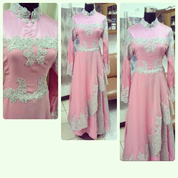 Dress with pink n silver color